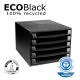 PROMO cassettiera 5 cassetti the box ecoblack 100 recycled